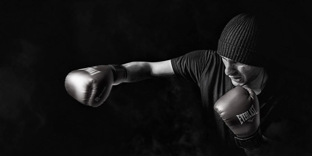 Image of a man boxing