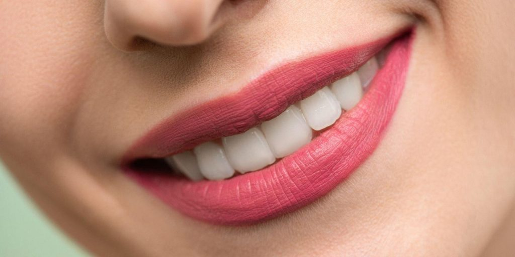 woman with healthy beautiful teeth smiling